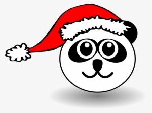 Animals In Santa Hats Messages Sticker-7 - Cartoon Panda Face  943181 9180f90a566e
